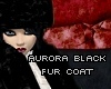 aurora black fur coat
