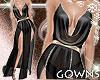 gown - sheer black