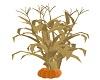 corn stalk w/pumpkin