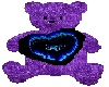 {BA69} purple love bear