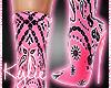 Pink Bandana Boots