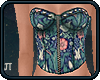 ! Bustier: floral.