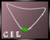 !C! EMERALD NECKLACE
