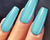 GEL Coffin Nails AQUA
