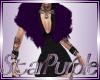 Purple Fur Black Dress
