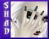 {SP}Gray Stripe Nails