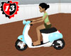 #13 Vespa Moving  Blue
