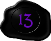 13 Black with Purple 13