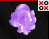 Purple Rose Hair Clip- L
