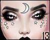 Silver Face Stars+Moon