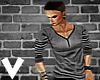 [[VBA]]GunMetal V-neck