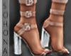 ṩ 3 Strap Heel Clear