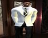 White/ Black  Suit