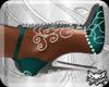 ! Teal 2 Silver Heels