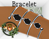 Silver Black Bracelet L