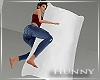 H. Body Pillow White