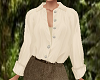 TF* Cream Tucked Blouse