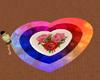 heart rose rug