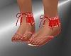 FG~ Red Fringe Sandals