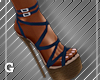 Navy Strapped Sandals