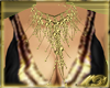 Gold bead and frill Neck