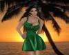 -1m- Green sexy dress
