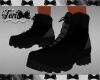 Black Gray Hiking Boots