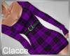 C Just plaid purple dres