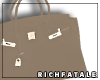 RF | Leather Tote -Stone