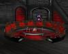 Red black sofa - R69