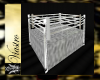 boxing ring in white