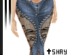 S~ Laced Jeans Light