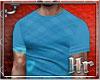 Hr| Plaid  Blue T Shirt