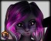 hair purple black furry