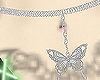 belly chain butterfly