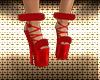 Christmas Fur Red Shoes