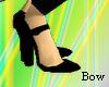 [B] Black heel