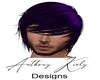 Purple Emo Long Hair