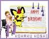 Pichu birthday cake