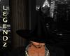 Mens Dark Wizard Hat