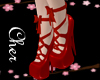 laced shoes red