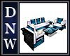 NW Blue Mod Crystal sofa
