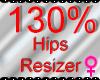 *M* Hips Resizer 130%