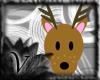 V Deer Sticker