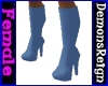Round-Toe Boots -LgtBlue