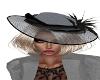 Gina Black/Gray Hat
