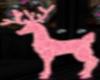 Pink Christmas Deer