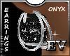 EV Onyx Silver Earrings