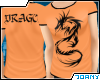 [Ty] Orange Dragon Tee