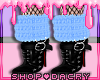 Blue Fur Boots